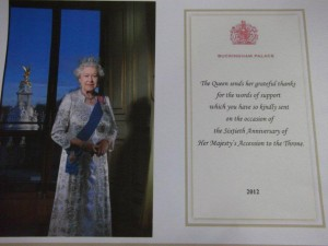 Thank-you Card from Queen Elizabeth II