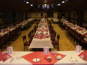 Main hall for a function (Burns Supper)